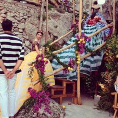 Dolce & Gabbana Alta Moda autumn/winter 15 couture show in Capri | Harper's Bazaar