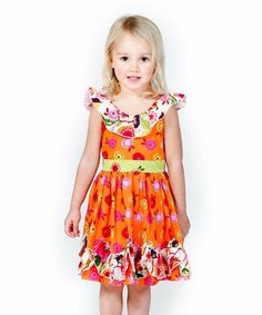 131fe11d644 Another great find on Orange Florabella Melody Dress - Infant