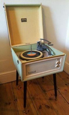 Dansette Bermuda Vintage 1950s Valve Record Player Modernist Atomic 60s