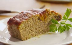 A simple, no-fail beef meatloaf with a tangy topping that's ready in no time.