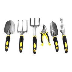 Tool Garden Set 6 Piece Functional Comfortable Handles Quality Heads Great Gift #SONGMICS