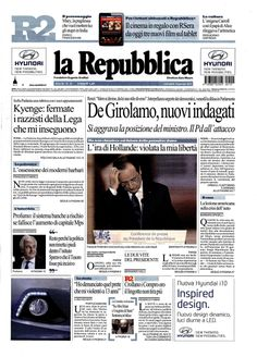 La Repubblica - Gennaio 2014 #stileitaliano firmato #NeroGiardini