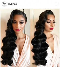 lace front wigs black Natural Color Anniversary cosplay wigs for sale Anniversary cosplay Black Brides Hairstyles, Wedding Hairstyles For Long Hair, Bride Hairstyles, Great Gatsby Hairstyles, Wavy Hairstyles, Hairstyle Ideas, Hair Ideas, Old Hollywood Hair, Hollywood Curls