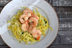 Low Carb and Delicious Shrimp With Creamy Garlic Sauce