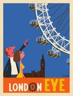 London Eye - © Paul Thurlby 2015. From the book 'L is for London'.