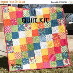 Quilt Kit Best Day Ever Moda Fabrics Red Blue by SunnysideFabrics