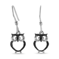 Black Diamond Owl Earrings Crafted In Solid Sterling Silver by SuperJeweler - See more at: http://blackdiamondgemstone.com/jewelry/earrings/drop-dangle/black-diamond-owl-earrings-crafted-in-solid-sterling-silver-com/#!prettyPhoto