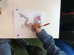 Colouring the Chinese New Year Mindfulness Colouring Sheets at Twinkl HQ!