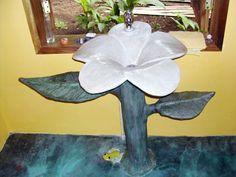 Lavamanos Flor en cemento pulido