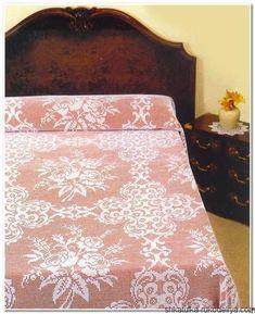 Филейное покрывало с розами. Схема крючком покрывала на кровать | Шкатулка рукоделия