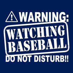 Funny Warning Watching Baseball t shirt Do Not Disturb T Shirt humor. $12.00, via Etsy.