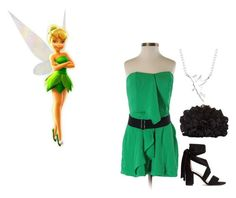 """""""Tinker Bell"""" by morgance ❤ liked on Polyvore featuring Mustard Seed, Franchi, Disney and romper"""