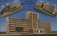 Dallas TX Parkland Memorial Hospital Small Residence Building, University of Texas, Southwestern Medical School Curt Teich & Co.