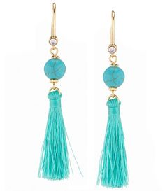 Anna & Ava Howlite Bead and Tassel Drop Earrings
