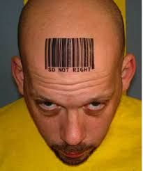 Barcode tattoos are another popular tattoos that symbolize a person's individuality. Here are top 10 barcode tattoo designs picked up for you to boost your interest. Bad Tattoos, Funny Tattoos, Cool Tattoos, Facial Tattoos, Barcode Tattoo, Barcode Design, Tattoo Fails, Unique Tattoo Designs, Popular Tattoos
