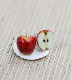 Apple Studs / Post Earrings Fruit & Veggies Food by PetitPlat