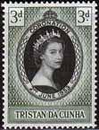 Tristan da Cunha Elizabeth II 1953 Coronation Fine Mint SG 13 Scott 13 £0.79 Other Tristan Stamps HERE