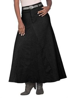 Denim Women's Plus Size Long Denim Skirt Big And Tall Outfits, Cool Outfits, Denim Fashion, Fashion Outfits, Modest Fashion, Fashion Fashion, Fashion Ideas, Plus Size Dresses, Plus Size Outfits