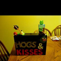 There aren't many Valentine box ideas for boys and my 6-year-old loves Angry Birds so....