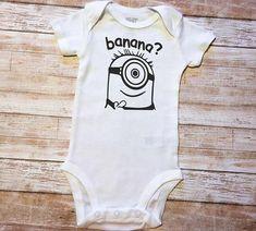 Minion Banana Onesie- Minion Birthday, Minions Theme, Universal Studios Birthday Party, Universal Trip, Baby Minion Onesie, Minion Gift