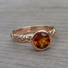 Fair trade madeira citrine and recycled 14k rose gold ring  by mcfarlanddesigns, via Flickr