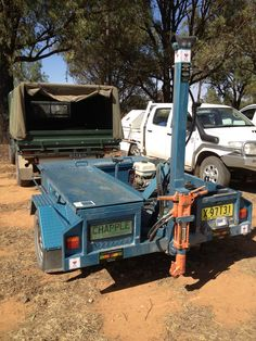 Soil corer parked at the CANFA Conservation Farming Field Day in Temora 2012
