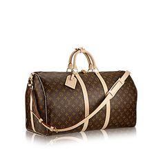 Discover Louis Vuitton Keepall Bandoulière 55: An icon since the appearance in 1930, the Keepall embodies the spirit of modern travel. Light, supple and always ready for immediate departure, the bag lives up to its name: those adept at the art of packing can easily fit a week's wardrobe into the generously sized (and cabin-friendly) Keepall 55. Shown here in classic Monogram Canvas, with a strap for casual cross-body wear
