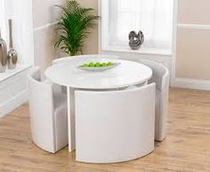 White High Gloss Kitchen Table Chairs Ontario Cm Stowaway Dining And
