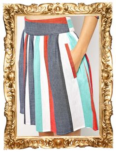 Striped Skirt with Pockets - $53 (used code DECEMBER20 for 20% off!)