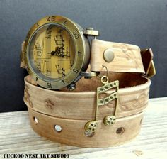 Music watch, Women leather watch, wrist watch for ladies, gifts for musicians, Womens wrap watch