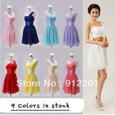 Hot Sale Bridesmaid Dresses Knee-Length Wedding Bridal Gowns  Formal Attire Short Party Dress US $26.80