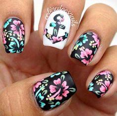 #nail #ancora #fiori #opache