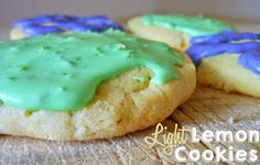 These light lemon cookies are wonderful!  Soft and chewy- I made some with lime glaze and some with lavender!