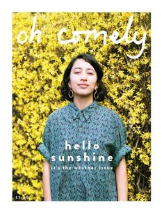 I haven't seen many magazines with yellow or green covers. This could be a way to make the cover stand out from other covers Hello Sunshine, Reading Material, Art Model, Christmas Sweaters, Indie, Things To Come, T Shirts For Women, Lifestyle, Mens Tops