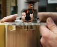 Simple Trick for Cleaner Dovetail Joints > using a scroll saw and trim router Woodworking Joints, Woodworking Techniques, Fine Woodworking, Woodworking Ideas, Handmade Candle Holders, Trim Router, Using A Router, Japanese Joinery, Shaker Furniture