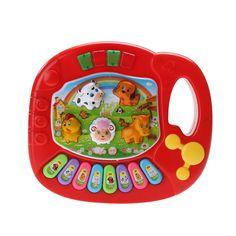 Neue Baby Kinder Musical Bildungs Klavier Tier Bauernhof Entwicklungs Musik Spielzeug Zufällige Farbe
