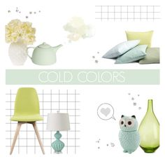 """Cold Colors"" by c-silla ❤ liked on Polyvore featuring interior, interiors, interior design, home, home decor, interior decorating, Cultural Intrigue, Regina-Andrew Design and Mud Australia"