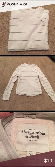 Abercrombie & Fitch Long Sleeve Muscle Men's Abercrombie & Fitch white long sleeve muscle tee. In excellent condition! Abercrombie & Fitch Shirts Tees - Long Sleeve