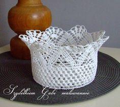 Crochet Vase, Freeform Crochet, Crochet Diagram, Thread Crochet, Filet Crochet, Crochet Doilies, Crochet Leaf Patterns, Crochet Basket Pattern, Crochet Leaves