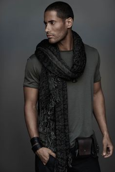 ♂ man's urban casual wear masculine and elegance black & dark neutral olive