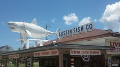 Austin Fish Co. in Nags Head, NC When in Nags Head, you have to get fresh seafood from Austin's and eat in at Sunset.