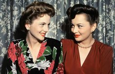 Who knew Joan Fontaine and Olivia de Havilland were sisters!