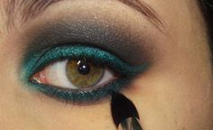 pretty teal....and i need to buy that brush!