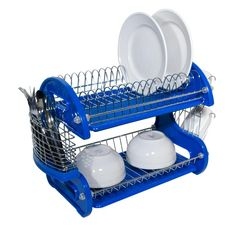 I found 'Blue 2 Tier Dish Drainer' on Wish, check it out!