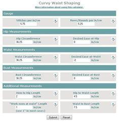 Use this calculator to modify your crochet sweaters. A Waist Shaping Calculator - Toni Rexroats Blog - Blogs - Crochet Me