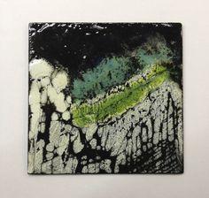 Brooch: mild steel, vitreous enamel by Sylvia Ballerini