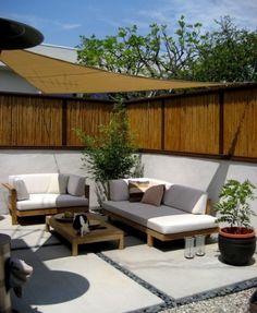 Sunshade over patio