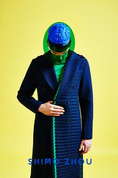 """This menswear collection is a mental symphony of digital manufacturing processes and the craftsmanship of classical tailoring created by the analysis of memory structures and an individual understanding of mereoloy."" – said the designer // mostly i love the brain helmet"