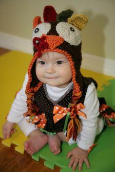 Thanksgiving hat - crochet pattern coming soon! Lyudochka7 on Craftsy