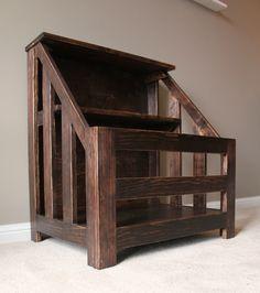 DIY Bookcase Toybox Wood